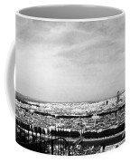 Lyon From The Basilique De Fourviere-bw Coffee Mug