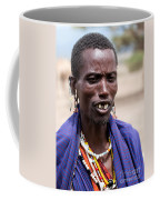 Maasai Man Portrait In Tanzania Coffee Mug