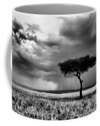 Maasai Mara In Black And White Coffee Mug