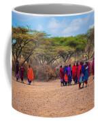 Maasai People And Their Village In Tanzania Coffee Mug