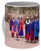 Maasai Women In Front Of Their Village In Tanzania Coffee Mug