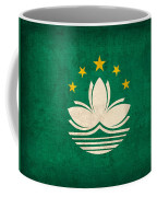 Macau Flag Vintage Distressed Finish Coffee Mug