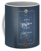 Machine Gun - Automatic Cannon By C.e. Barnes - Vintage Patent Blueprint Coffee Mug