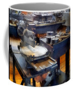 Machine Shop With Punch Press Coffee Mug