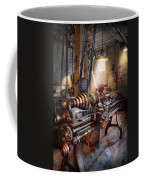 Machinist - Fire Department Lathe Coffee Mug by Mike Savad