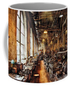 Machinist - Machine Shop Circa 1900's Coffee Mug by Mike Savad