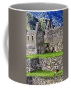 Machu Picchu - Grazing Lamas Coffee Mug