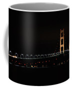 Mackinac Bridge Night Shot II Coffee Mug