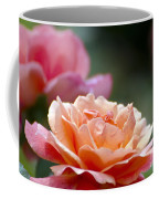 Macro Orange And Pink Floribunda Rose Coffee Mug