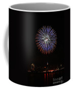 Fireworks Over The Empire State Building Coffee Mug by Nishanth Gopinathan