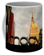 Macy's With Empire State Building - Famous Buildings And Landmarks Of New York City Coffee Mug