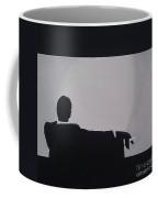 Mad Men In Silhouette Coffee Mug by John Lyes