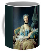 Madame De Sorquainville, 1749 Oil On Canvas Coffee Mug