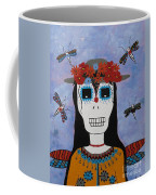 Madame Dragonfly Day Of The Dead Coffee Mug