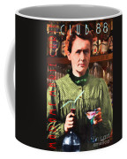 Madame Marie Curie Shaking Up A Killer Martini At The Swank Hipster Club 88 20140625 With Text Coffee Mug