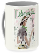 Mademoiselle Cover Featuring A Woman Holding Coffee Mug
