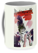 Mademoiselle Cover Featuring A Woman Looking Coffee Mug