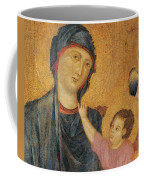 Madonna And Child Enthroned  Coffee Mug by Cimabue
