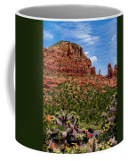 Madonna And Child Two Nuns Rock Formations Sedona Arizona Coffee Mug