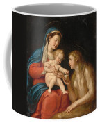 Madonna And Child With Mary Magdalene  Coffee Mug