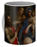 Madonna And Child With Saints John The Baptist With Mary Magdalene And Anne Coffee Mug by Guiseppe Cesari