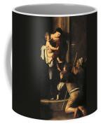 Madonna Dei Pellegrini Or Madonna Of Loreto Coffee Mug by Michelangelo Merisi da Caravaggio