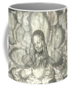 Madonna On Black And White Screen Coffee Mug