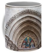Madonna With Child On Matthias Church Tympanum Coffee Mug