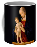 Madonna With The Child Blessing Coffee Mug by Giovanni Bellini