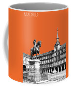 Madrid Skyline Plaza Mayor - Coral Coffee Mug