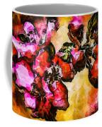 Magenta Flowers  -- Cubism Coffee Mug