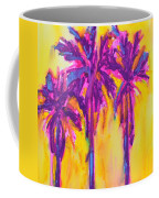 Magenta Palm Trees Coffee Mug
