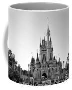 Magic Kingdom Castle In Black And White Coffee Mug