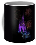 Magic Kingdom Castle In Purple With Fireworks 02 Coffee Mug