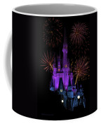 Magic Kingdom Castle In Purple With Fireworks 03 Coffee Mug
