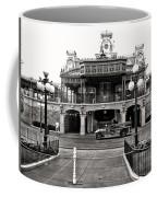 Magic Kingdom Train Station In Black And White Walt Disney World Coffee Mug