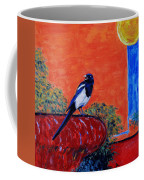 Magpie Singing At The Bath Coffee Mug by Xueling Zou