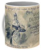 Maid Serving Coffee Advertisement For Woods Duchess Coffee Boston  Coffee Mug