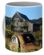 Mail Pouch Barn And Old Cars Coffee Mug