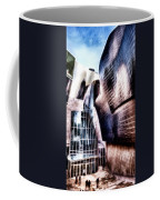 Main Entrance Of Guggenheim Bilbao Museum In The Basque Country Fractal Coffee Mug
