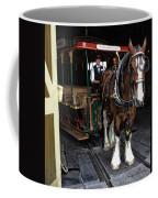 Main Street Horse And Trolley Coffee Mug