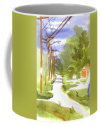 Main Street On A Cloudy Summers Day Coffee Mug