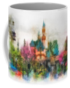 Main Street Sleeping Beauty Castle Disneyland Photo Art 01 Coffee Mug