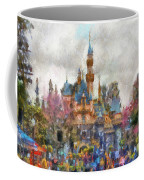 Main Street Sleeping Beauty Castle Disneyland Photo Art 02 Coffee Mug