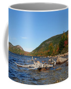 maine 1 Acadia National Park Jordan Pond in Fall Coffee Mug