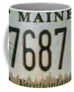 Maine License Plate Coffee Mug