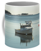 Maine Lobster Boats In Winter Coffee Mug