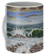 Crashing Waves At Pemaquid Point Maine Coffee Mug