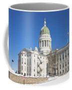 Maine State Capitol Building In Winter Augusta Coffee Mug