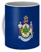 Maine State Flag Coffee Mug by Pixel Chimp